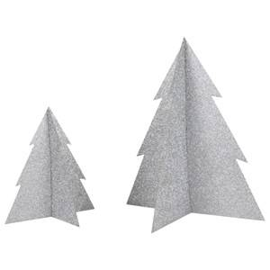 My Little Day Unisex Tableware Silver Glitter Christmas Tree - Silver - Large