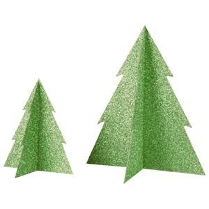 My Little Day Unisex Tableware Green Glitter Christmas Tree - Green - Small