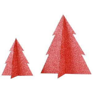My Little Day Unisex Tableware Red Glitter Christmas Tree - Red - Large