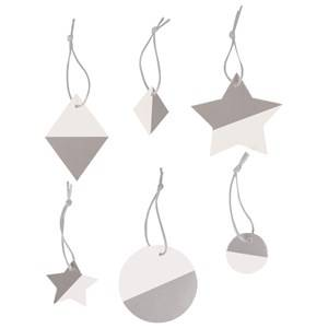 My Little Day Unisex Tableware Silver Two-Colored Geometric Decorations - Silver