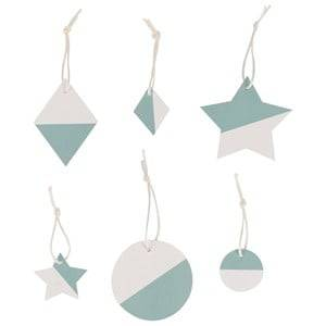 My Little Day Unisex Tableware Blue Two-Colored Geometric Decorations - Aqua