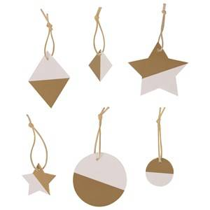 My Little Day Unisex Tableware Gold Two-Colored Geometric Decorations - Golden