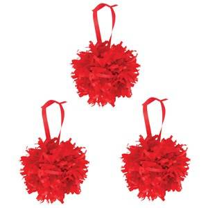 My Little Day Unisex Tableware Red Paper Pompoms - Red
