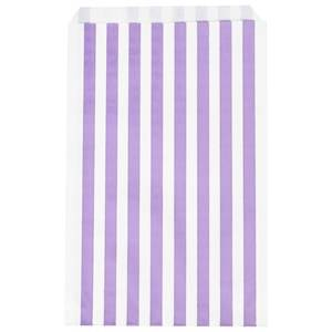 My Little Day Unisex Tableware Purple 10 Paper Bags - Lilac Stripes