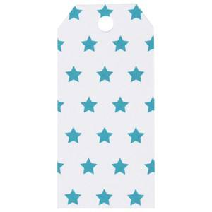 My Little Day Unisex Tableware Blue 12 Gift Tags - Blue Stars