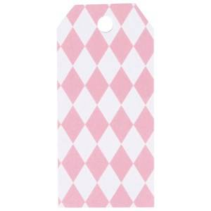 My Little Day Unisex Tableware Pink 12 Gift Tags - Light Pink Diamonds