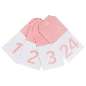 My Little Day Unisex Tableware Pink 24 Gift Tags - Light Pink Numbers