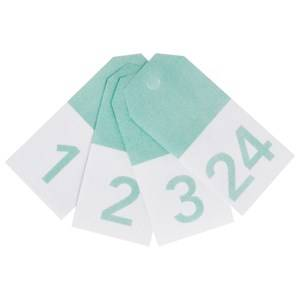 My Little Day Unisex Tableware Blue 24 Gift Tags - Aqua Numbers