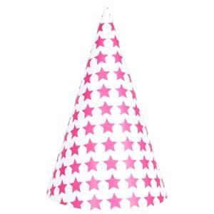 My Little Day Unisex Tableware Pink 8 Party Hats - Bright Pink Stars
