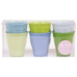 RICE A/S Unisex Norway Assort Tableware Blue Small Melamine Cup Set Blue/Green Colors