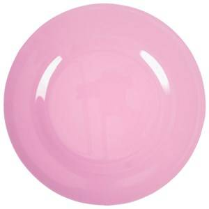 RICE A/S Unisex Norway Assort Tableware Pink Melamine Round Side Plate Dark Pink