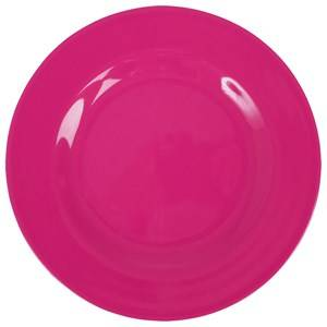 RICE A/S Unisex Norway Assort Tableware Pink Melamine Round Side Plate Fuchsia
