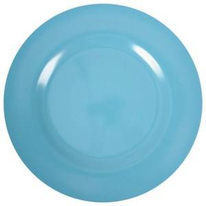 RICE A/S Unisex Norway Assort Tableware Blue Melamine Round Side Plate Turquoise