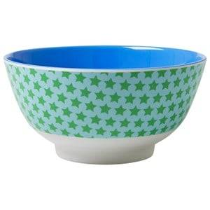 RICE A/S Unisex Norway Assort Tableware Multi Melamine Bowl Two Tone with Star Print