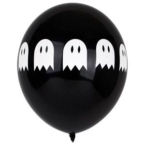 My Little Day Unisex Tableware Black 5 Printed Balloons - Ghosts