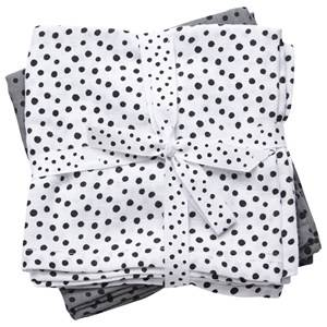 Done by Deer Unisex Norway Assort Textile Grey Swaddle 2-Pack Happy Dots Grey