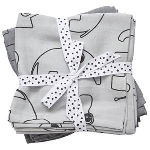 Done by Deer Unisex Textile Grey Swaddle 2-Pack Contour Grey