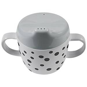 Done by Deer Unisex Norway Assort Tableware Grey 2-Handle Spout Cup Happy Dots Grey