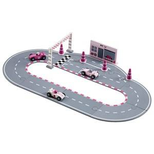 Kids Concept Unisex Vehicles Pink Racing Car Set Pink