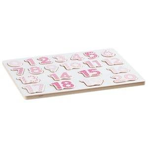 Kids Concept Unisex Puzzles and games Pink Number Board Puzzle Pink