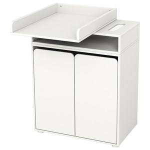 Flexa Furniture Unisex Furniture White Changing Table with 2 Doors White