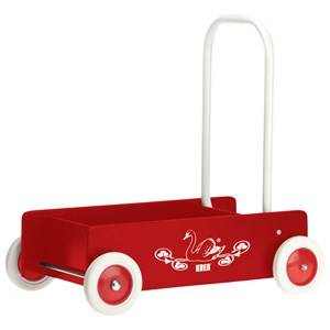 KREA Unisex Ride ons and walkers Red Wooden Baby Walker Red