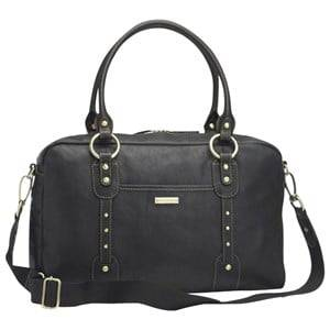 Storksak Unisex Norway Assort Bags Black Elizabeth Leather Diaper Bag Black