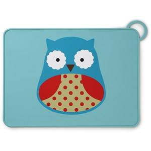 Skip Hop Unisex Norway Assort Tableware Multi Zoo Fold & Go Silicone Placemat Owl