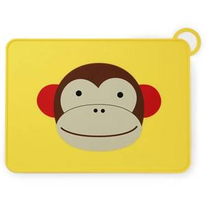 Skip Hop Unisex Norway Assort Tableware Multi Zoo Fold & Go Silicone Placemat Monkey