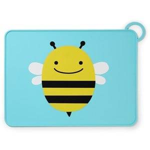 Skip Hop Unisex Norway Assort Tableware Multi Zoo Fold & Go Silicone Placemat Bee