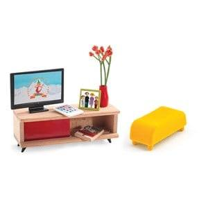 Djeco Unisex Dolls and doll houses Multi The TV Room