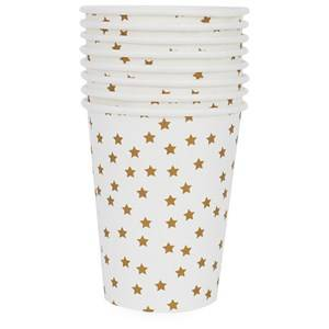 My Little Day Unisex Tableware Gold 8 Paper Cups - Golden Stars