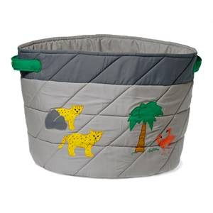 oskar&ellen; Unisex Storage Grey Wild Animals Storage Basket