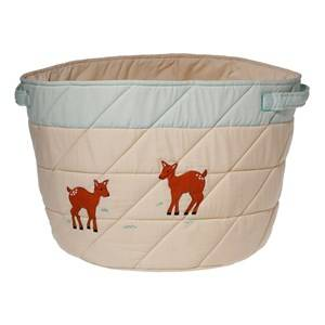 oskar&ellen; Unisex Storage Beige Forrest Animals Storage Basket