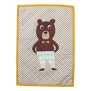 ferm LIVING Unisex Textile Multi Bear Quilted Blanket