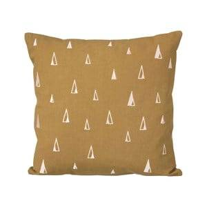 ferm LIVING Unisex Textile Yellow Cone Cushion - Curry