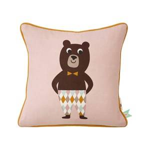 ferm LIVING Unisex Textile Pink Bear Cushion
