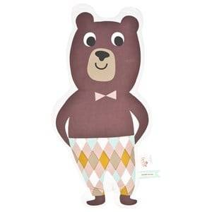 ferm LIVING Unisex Textile Multi Mr. Bear Cushion