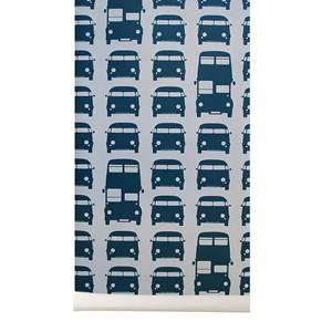 ferm LIVING Unisex Home accessories Blue Rush Hour Wallpaper - Petrol