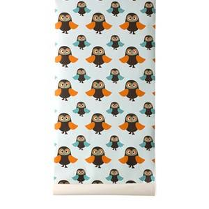 ferm LIVING Unisex Home accessories Multi Owls Wallpaper