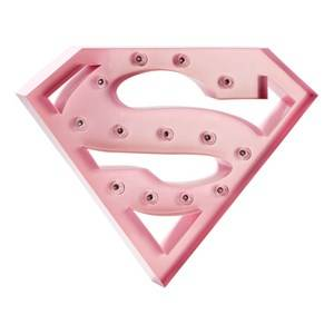 Sweetlights Unisex Lighting Pink Supergirl Mini Marquee Lights Baby Pink
