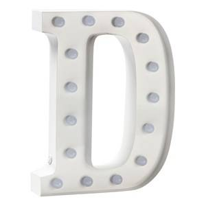 Sweetlights Unisex Lighting White Letter D Mini Marquee Lights White