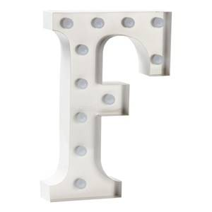Sweetlights Unisex Lighting White Letter F Mini Marquee Lights White