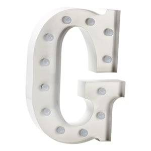 Sweetlights Unisex Lighting White Letter G Mini Marquee Lights White
