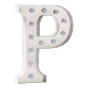 Sweetlights Unisex Lighting White Letter P Mini Marquee Lights White