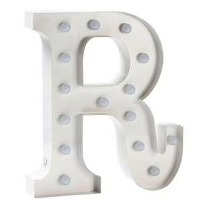 Sweetlights Unisex Lighting White Letter R Mini Marquee Lights White