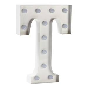 Sweetlights Unisex Lighting White Letter T Mini Marquee Lights White