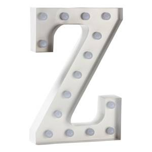 Sweetlights Unisex Lighting White Letter Z Mini Marquee Lights White