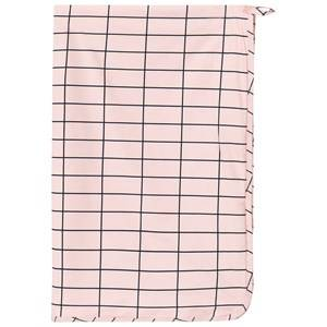 Tinycottons Unisex Textile Pink Grid Towel Pale Pink/Dark Navy