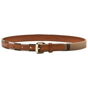 Burberry Boys Belts Beige Canvas Check and Leather Belt